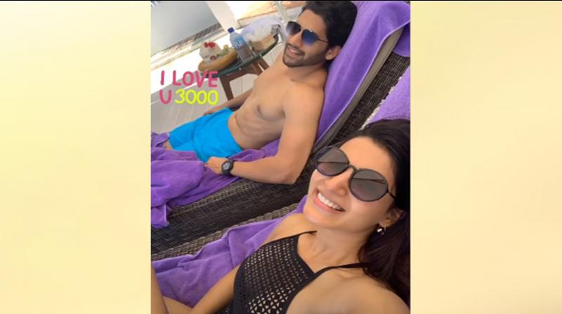 Samantha Akkineni with Naga Chaitanya. (Photo: Samantha Akkineni's Instagram story)