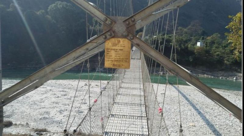 Constructed over the Mahakali River at the Lekam Rural Municipality in Nepal's Darchula district, the bridge (commonly known as Lali Bridge) would provide connectivity with the Pithoragarh town on the Indian side. (Photo: ANI)