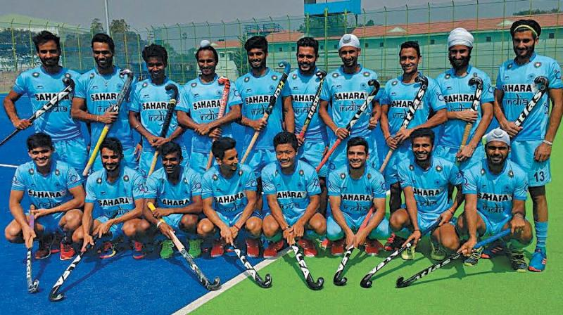 Members of the Junior World Cup team pose in Bengaluru on Friday. (Photo: Asian Age)