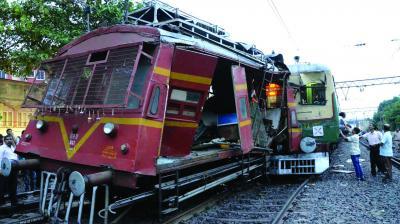 7 rail staff injured in train collision at Serampore