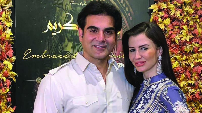 Arbaaz Khan has previously been rather guarded about having pictures taken with his girlfriend Giorgia Andriani.