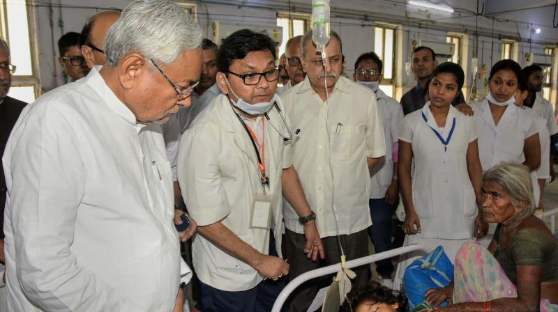 Hospital and district administration have maintained that skeletons have not caused the encephalitis deaths. (Photo: PTI)