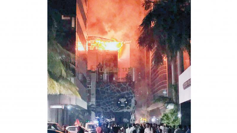 Fourteen people were killed and many more injured in the fire that broke out on December 29, 2017. (Photo: Asian Age)