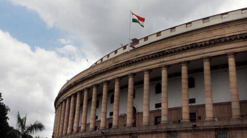 The parliament of India building