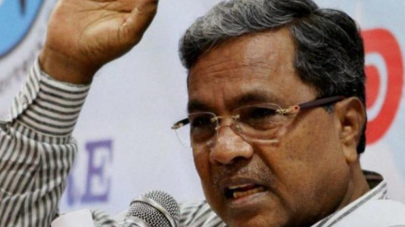 'The decision of EC to conduct by-elections in the state is only to favour the disqualified legislators,' Siddaramaiah said. (Photo: File)