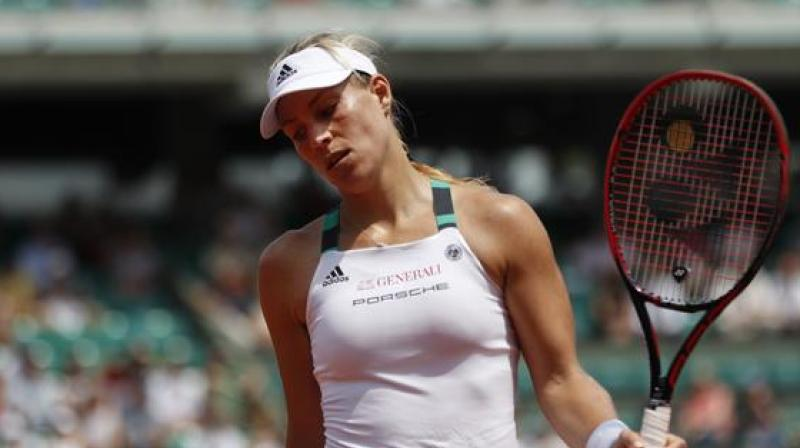 Ekaterina Makarova defeated top seed Angelique Kerber 6-2, 6-2 in the first round contest that lasted for more than 80 minutes.(Photo: AP)