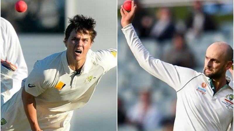 Australia kept New Zealand guessing Thursday as they weighed up using a five-pronged bowling attack in the final Test at Sydney.  The home team, who have comfortably won the first two Tests of the three-match series, have called up leg-spinner Mitchell Swepson who could bowl in tandem with Nathan Lyon, depending on a last-minute pitch inspection on Friday. (Photo:AFP/Twitter)