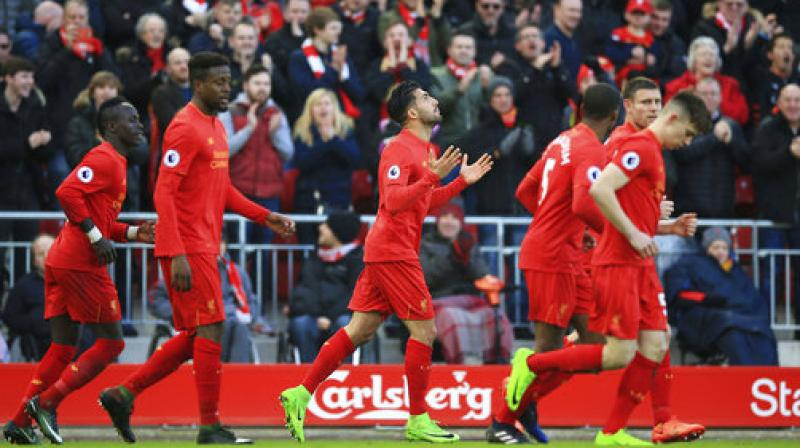 Victory saw Liverpool remain fourth, still in the final Champions League place open to English clubs. (Photo: AP)