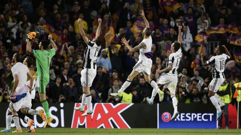 Juventus join holders Real Madrid, Atletico Madrid and Monaco in Friday's semi-final draw. (Photo: AP)