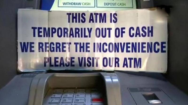 People in many states are complaining of cash crunch at ATMs. (Photo: ANI | Twitter)