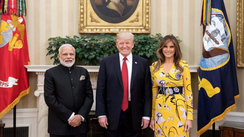 Image result for modi and trump and his wife