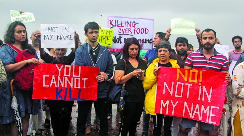 Mumbaikars turn out in large numbers for protest march. (Photo: Mrugesh Bandiwadekar)