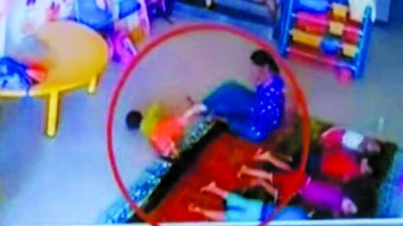 In a shocking incident, a 10-month-old girl was allegedly beaten up and kicked at a creche in Navi Mumbai on November 24 last year.
