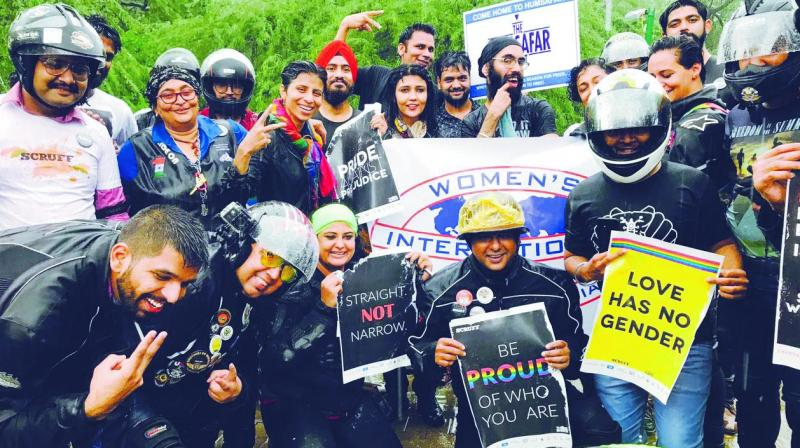 Even relentless rain couldn't demoralise the participants at the 'Bike Pride' on Sunday morning.