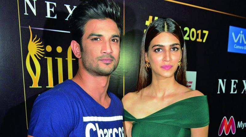 Sushant Singh Rajput with Kriti Sanon in the city recently. (Photo: Bunny Smith)