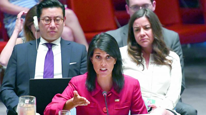 US Ambassador to the United Nations Nikki Haley has praised Mr Trump's decision as 'the just and right thing to do.' (Photo: AFP/File)