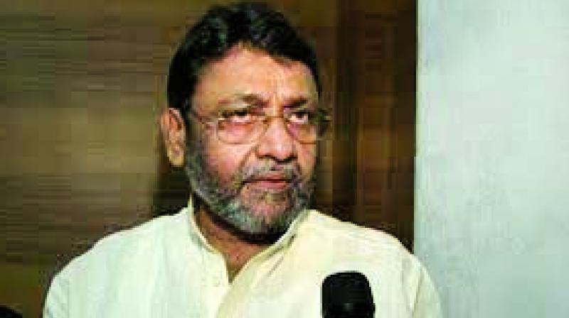File image of NCP spokesperson and minister Nawab Malik.