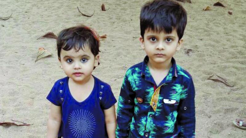Aamina Shaikh and her brother, Ali