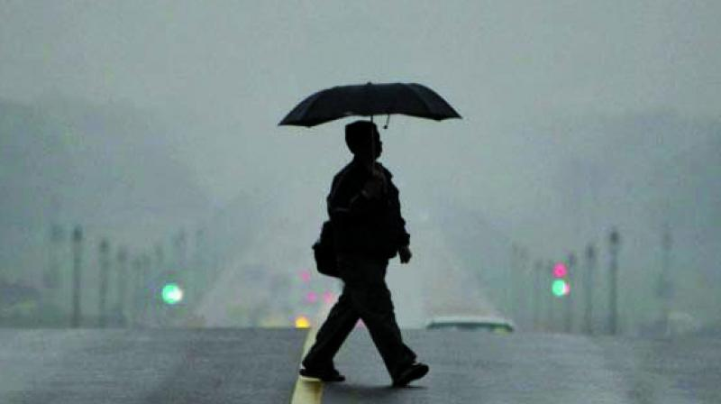 Mumbai witnessed heavy rainfall, accompanied by thunder and lightning on Monday night, causing water-logging and disruption of local train services. (Representational Image)