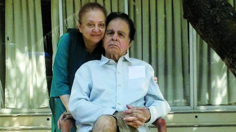 Dilip Kumar and Saira Banu after his recovery from pneumonia.