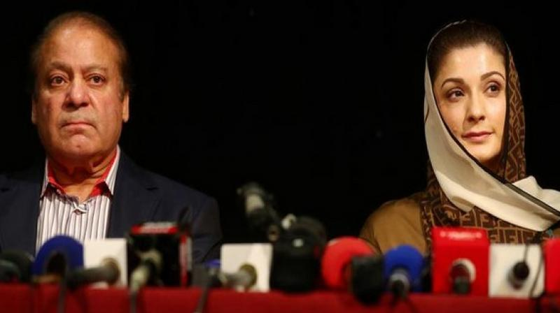 On July 6, Sharif and Maryam were convicted in absentia in the Avenfield reference case by the Accountability Court. (Photo: ANI)