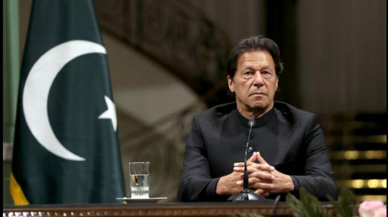 Pakistan Prime Minister Imran Khan underwent a test for the novel coronavirus on Wednesday. (AFP Photo)