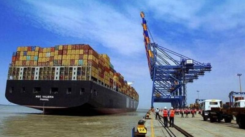 A file picture of the Mundra International Container Port. (Photo: PTI)