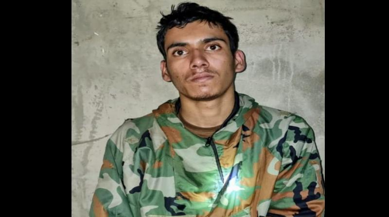 The captured militant has been identified as 19-year-old Ali Babar Patra. (By arrangement)