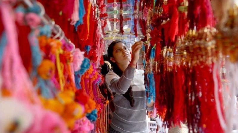 """Raksha Bandhan, basically a Hindu festival, signifies a """"knot of protection"""". (Photo: Representational/PTI)"""