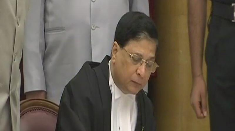 64-year-old Justice Misra has practised in Constitutional, Civil, Criminal, Revenue, Service and Sales Tax matters in the Orissa High Court and the Service Tribunal. (Photo: Twitter | ANI)