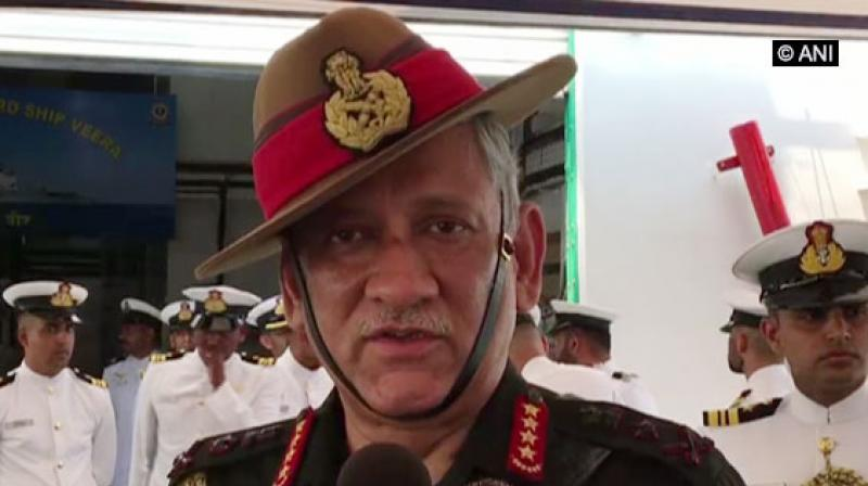 The Army Chief was speaking on the sidelines of a function where he met with over 140 children and teachers from Jammu and Kashmir who are on a multi-city tour organised by the Army. (Photo: ANI)
