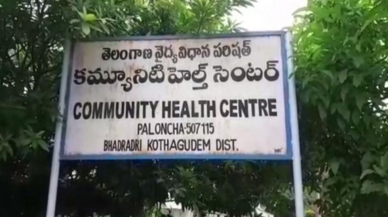 According to Bhadradri Kothagudem police, 10 students studying in class 8 to class 10 of Kasturba Gandhi Balika Vidyalaya suffered vomiting and motions after having breakfast in the school. (Photo: ANI)