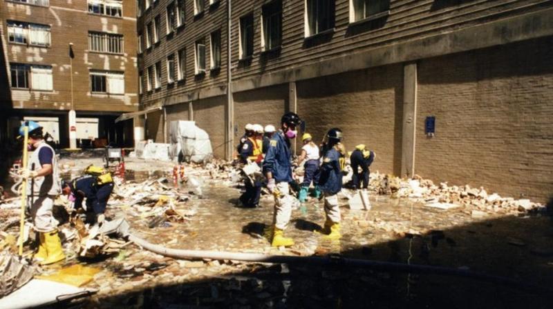 FBI officials investigate inside the premises. (Photo: FBI)