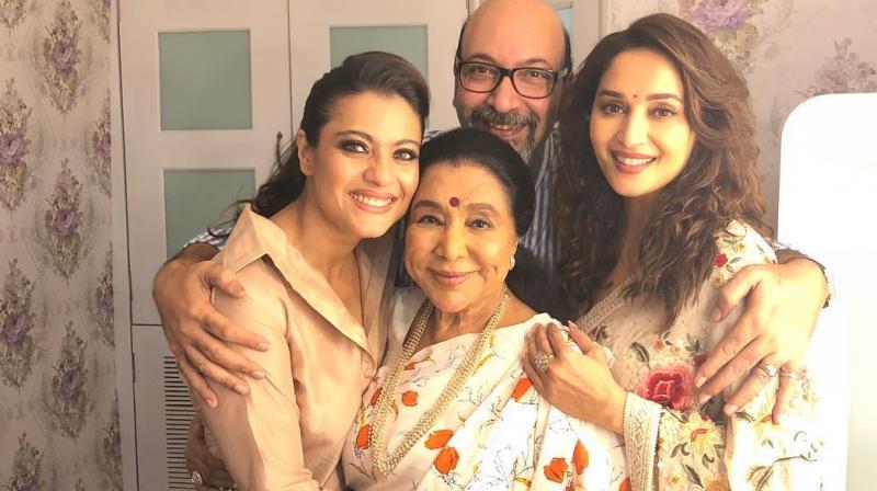 Kajol, Madhuri Dixit-Nene and Asha Bhosle.
