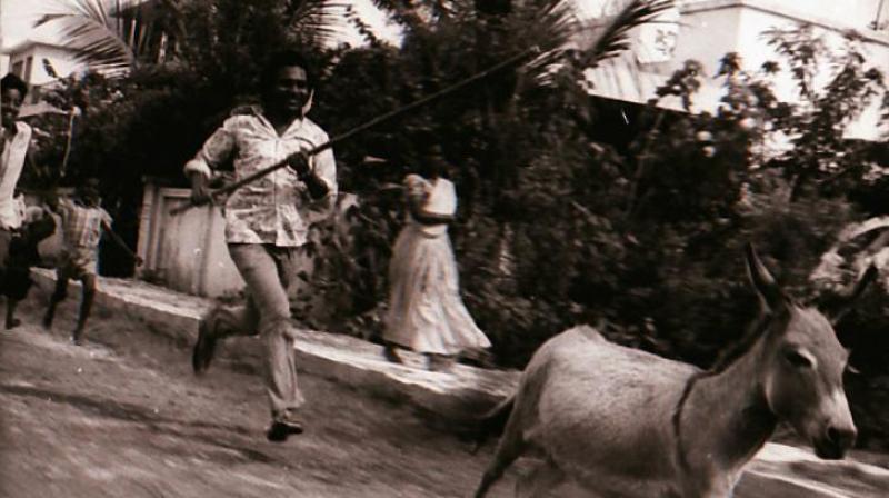 Still from the movie Agraharathil Kazhutai. Source: iffigoa.org