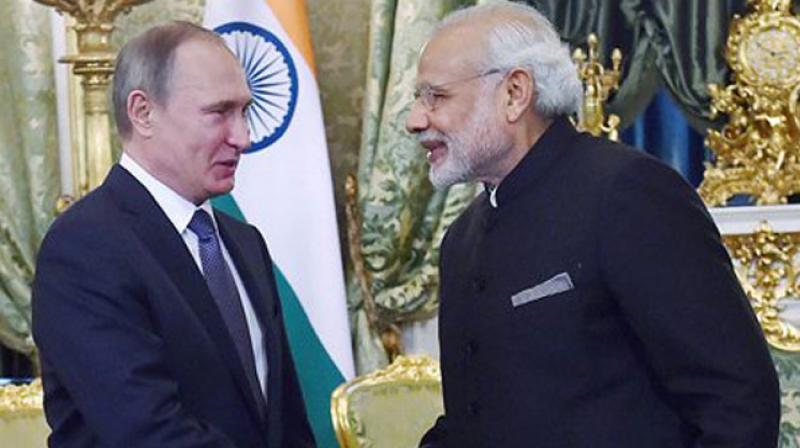 Prime Minister Narendra Modi and Russian President Vladimir Putin. (Photo: PTI/File)