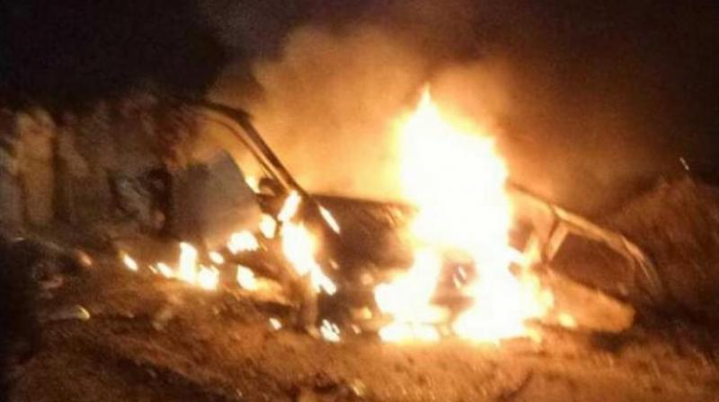 An explosion occurred on Tuesday near the venue of the poll campaign of Congress candidate Harminder Singh Jassi at Maur Mandi. (Photo: Twitter)
