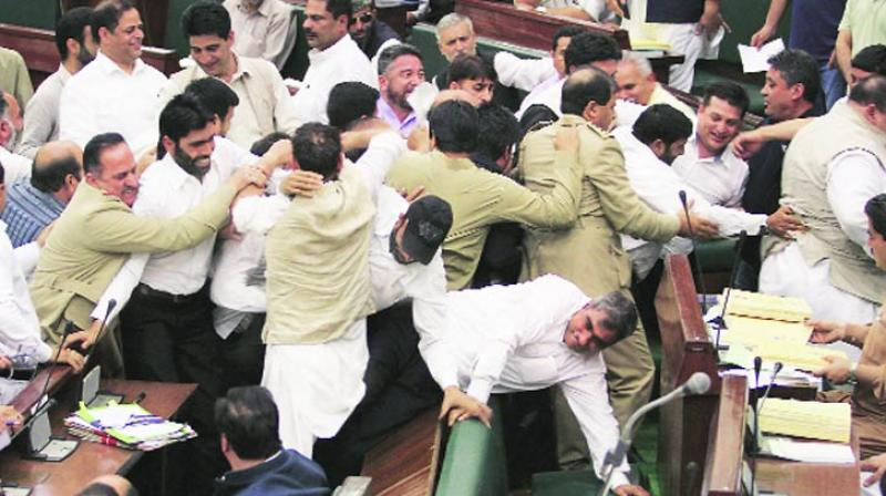 The Jammu and Kashmir Assembly was on Wednesday rocked by unprecedented violent protests. (Photo: PTI/Representational)