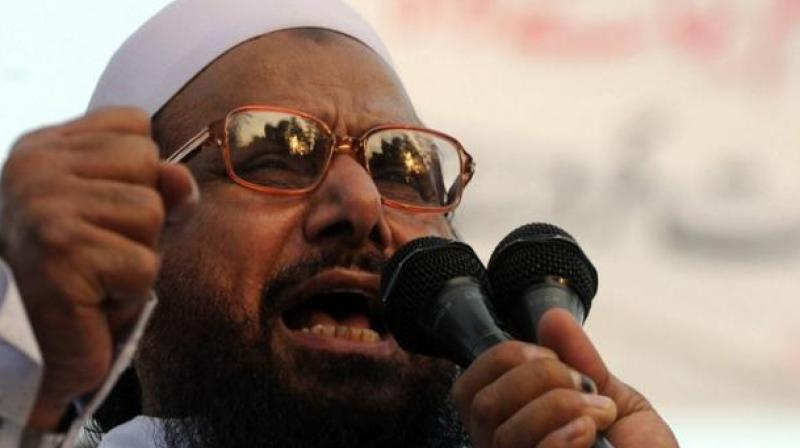 Hafiz Saeed pleaded the court to declare the impugned notification of the interior ministry null and void with regard to taking over the assets of the organisations.  (Photo: file)
