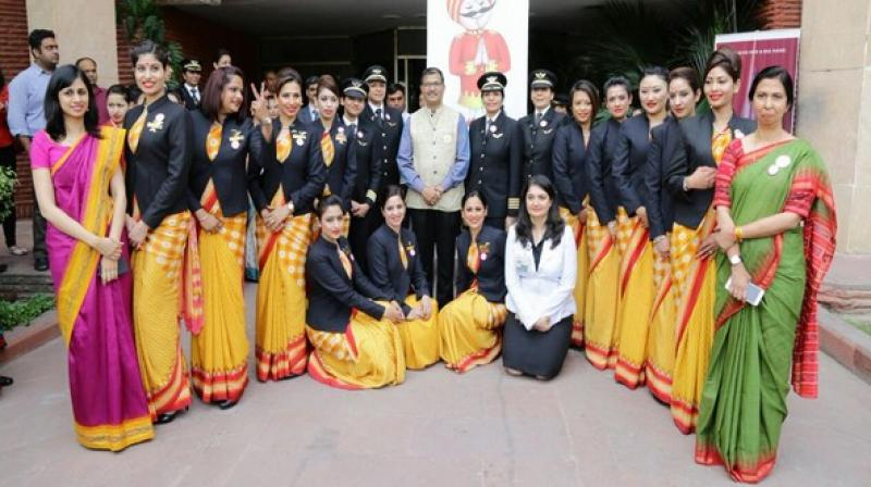 The all-women Air India crew. (Photo: Twitter)