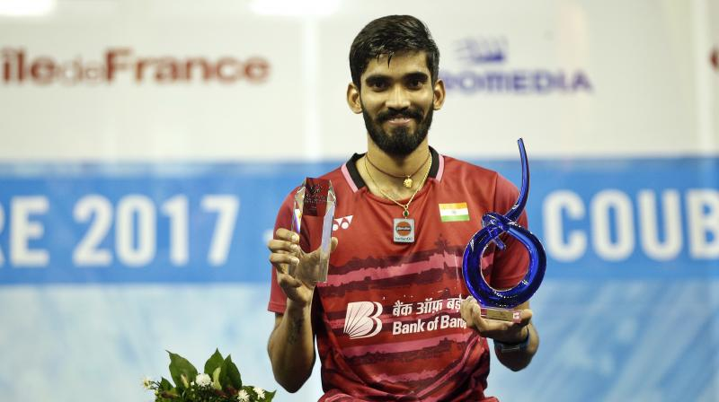 After his grand French Open win, the 24-year-old Kidambi Srikanth became the first Indian and only the fourth male shuttler in the history to lift four Super Series titles in a calendar year. (Photo: AP)