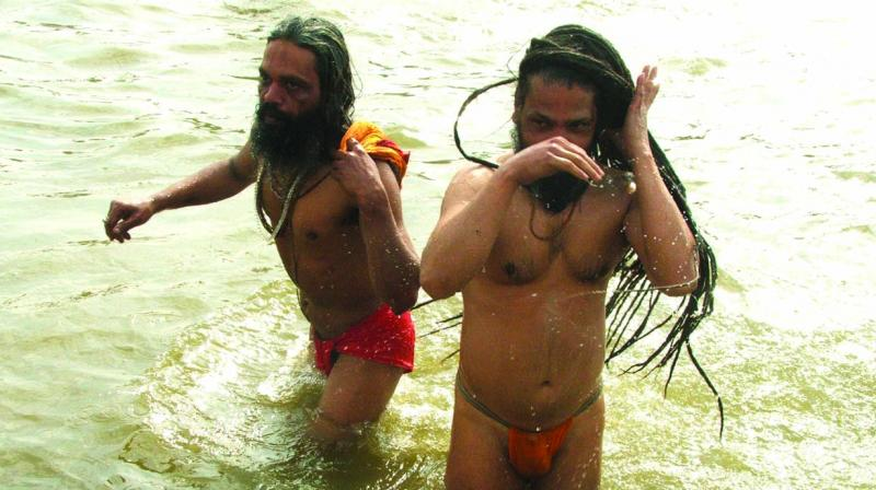 The numbers of India's sadhus are falling. Many of the 'Naga Sadhus' at the Kumbh are fake, people paid to take part to bump up numbers. The Nagas know this and that is part of the reason for the anger with the forces that try to control them. (Photo: Biplab banerjee)