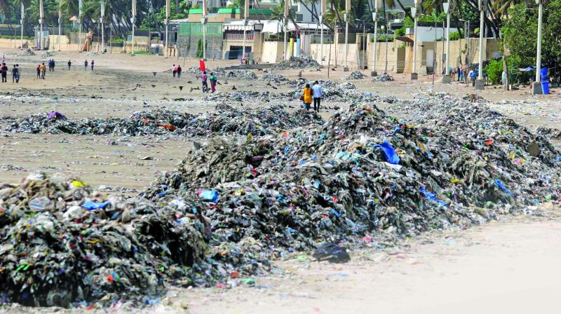 Despite numerous efforts by the civic body, the garbage problem at city beaches seems to be worsening with every passing day.