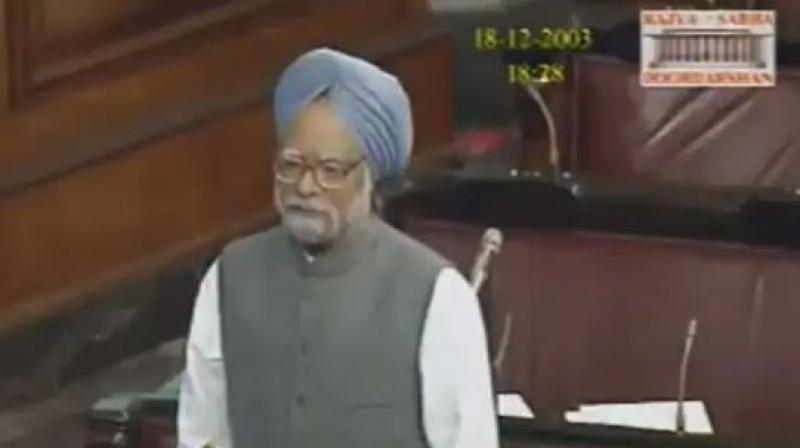 Senior BJP leader LK Advani, then Deputy Prime Minister and Home Minister, was seated in the government benches. (Photo: SCreengrab)