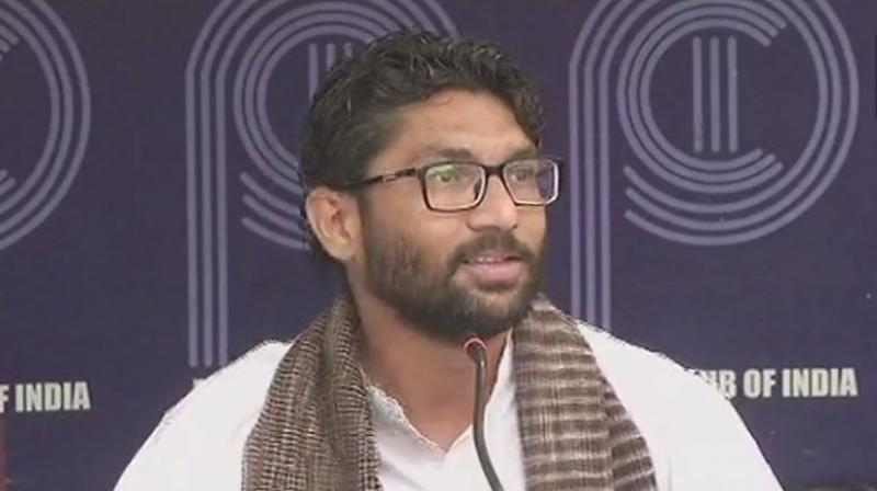 Mevani said the results of the Gujarat Assembly elections have dented the ego of BJP and the charges against him are politically motivated in the wake of his rising popularity. (Photo: ANI/Twitter)