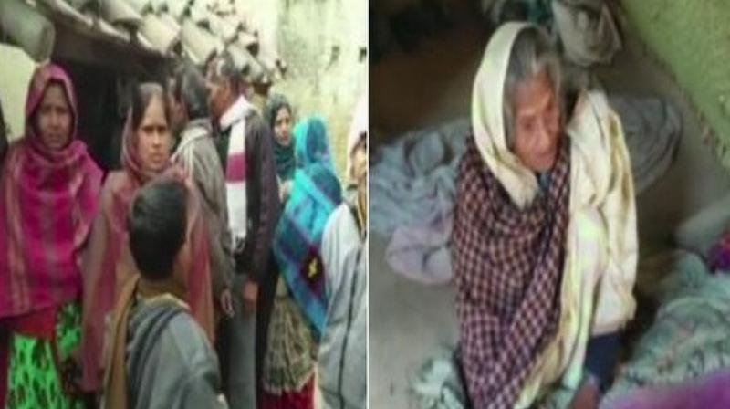 The deceased, who is survived by his 90-year-old mother (R), used their ration card to access food grains but later sold it to buy medicines. (Photo: ANI)