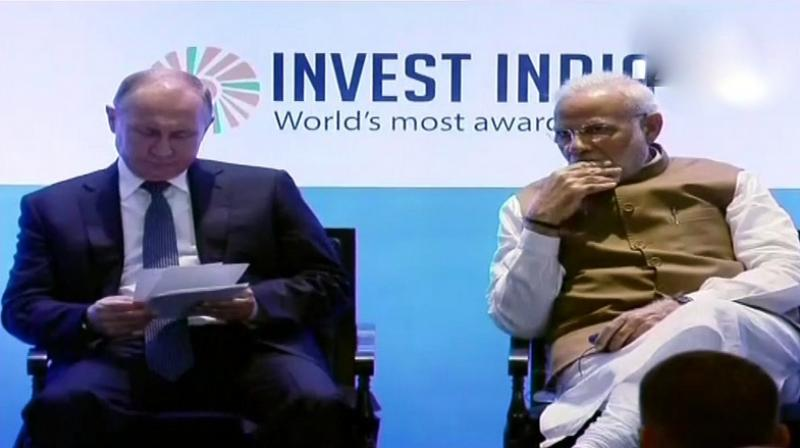 Stating that India is the most open economy in respect to FDI, PM Modi invited Russians to set up a dedicated defence industrial park in the country and take the traditional relationship forward. (Photo: Twitter   ANI)