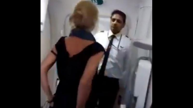 50-year-old, Simone Burns was sentenced to six months in jail in April for spitting and making racist taunts at Indian cabin crew who refused to serve more alcohol. (Photo: Screengrab)