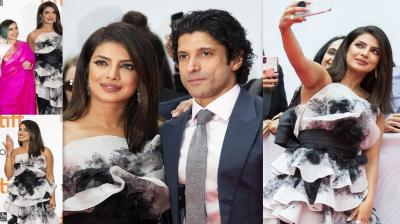 Priyanka Chopra, Farhan Akhtar have recently attended the world premiere of their upcoming film, The Sky is Pink at the Toronto International Film Festival 2019. PeeCee along with her 'Dil Dhadakne Do' actor dazzled on the red carpet of TIFF. (Photos: AP)