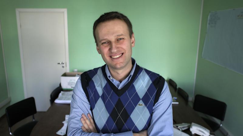 Alexei Navalny poses in his office in Moscow, Russia. (AP File Image)
